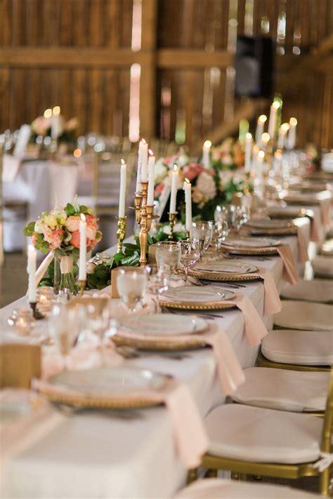 Elegant Barn Wedding Decor   A Romantic Modern Vintage