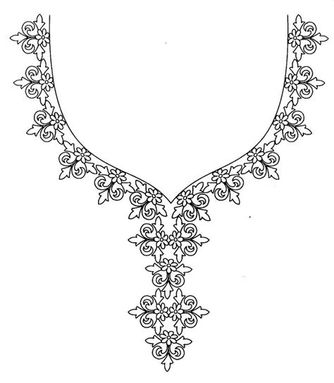 kurtis pattern vector hand embroidery designs for kurtis neck simple craft ideas