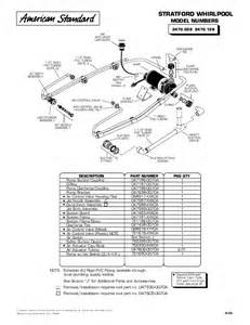 american standard stratford whirlpool parts list
