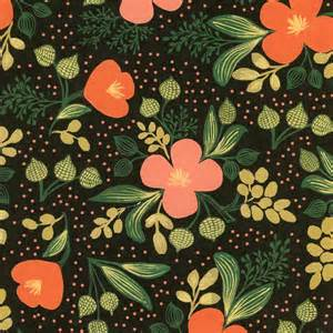 rifle paper company wallpaper rifle paper midnight floral print