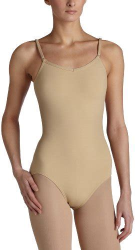 Capezio Women S Camisole Leotard With Adjustable Straps Nude Small Apparel Accessories Clothing