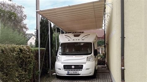 carport hauswand carports schutzd 228 cher f 252 r wohnmobile caravans wohnw 228