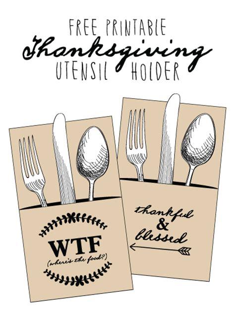 printable thanksgiving utensil holder fontaholic freebie friday thanksgiving utensil holders