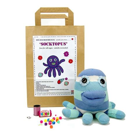 craft kit for socktopus craft kit by sock creatures notonthehighstreet