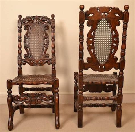 Antique Oak Dining Room Chairs Vintage Set Of Eight Carolean Style Oak Dining Chairs At 1stdibs