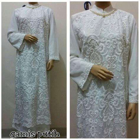 Jual Gamis Putih jual gamis putih bordir newah toko busana muslimah