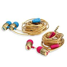 Chicbuds Edition Earphones chicbuds fauvette gold edition earbuds w microphone bed