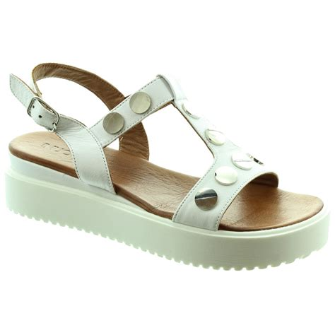 stud sandals inuovo 6354 stud sandals in white in white