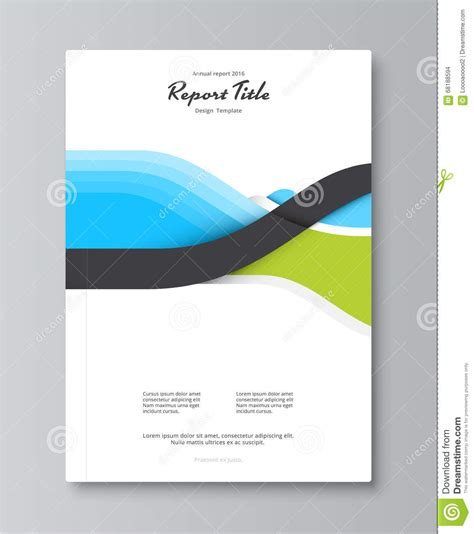 annual report cover design book brochure template with