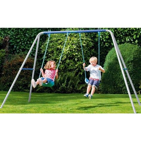 argos swing buy chad valley double swing set at argos co uk your