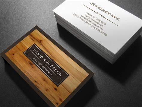 wood grain business card template professional modern wood grain look sided standard