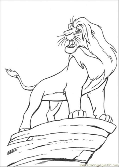 coloring pages simba cartoons gt the lion king free