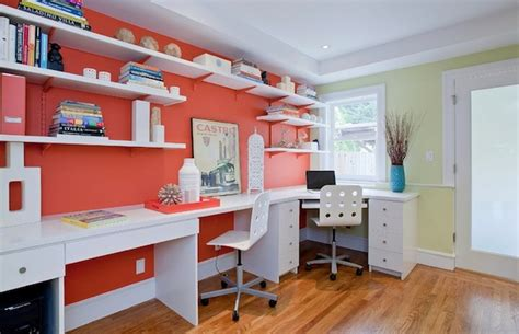 how to add splashes of color to your home office