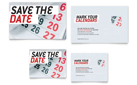 Save The Date Business Event Templates save the date note card template word publisher