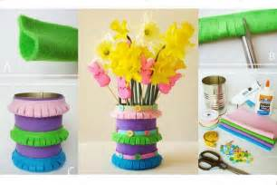 Home Decor Craft Ideas Diy Felt Spring Vase Diy Projects Usefuldiy Com