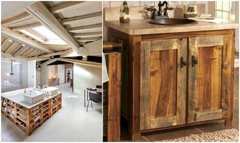 mobili con pedane di legno 12 sorprendenti mobili da bagno con materiale di riciclo
