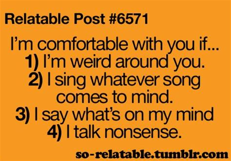 how to say comfortable relatable post i m comfortable with you if 1 i m