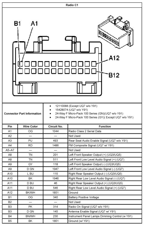 2013 Chevrolet Traverse Installation Parts, harness, wires