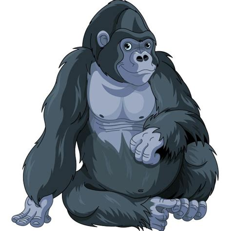 gorilla clipart b w clipart gorilla pencil and in color b w clipart gorilla