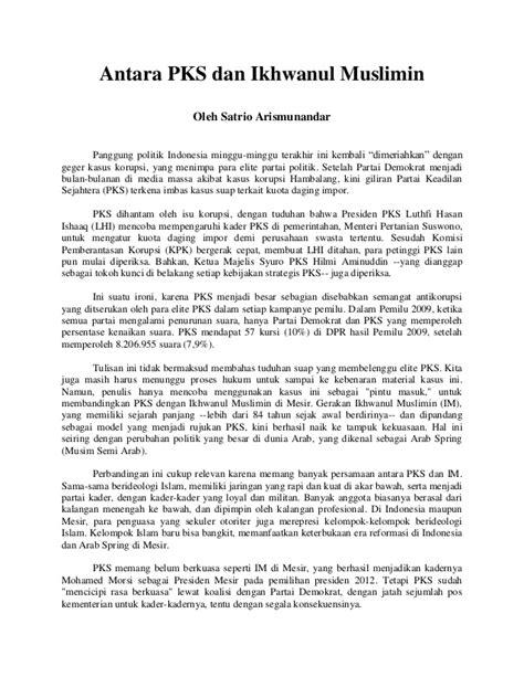 Sembilan Elemen Jurnalisme 1 antara pks dan ikhwanul muslimin di mesir