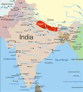 India Nepal Map by Crosswalk Kids