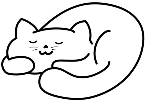 sleep color sleeping cat coloring page free printable coloring pages