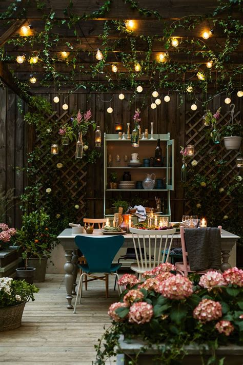 backyard lighting ideas pinterest m 225 s de 17 ideas fant 225 sticas sobre luces colgantes en