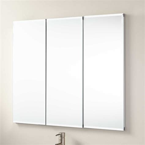 3 way mirror cabinet 36 quot longview recessed mount medicine cabinet bathroom