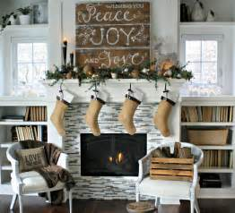 christmas mantel the lilypad cottage