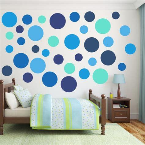 polka dot wall sticker multi size blue polka dot wall decal pack wall decal world