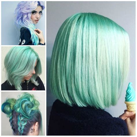 mint color hair mint green hairstyles for 2017 2019 haircuts hairstyles