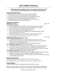 Objective For A Customer Service Resume by Objective On A Resume For Customer Service Rep Student Resume Template