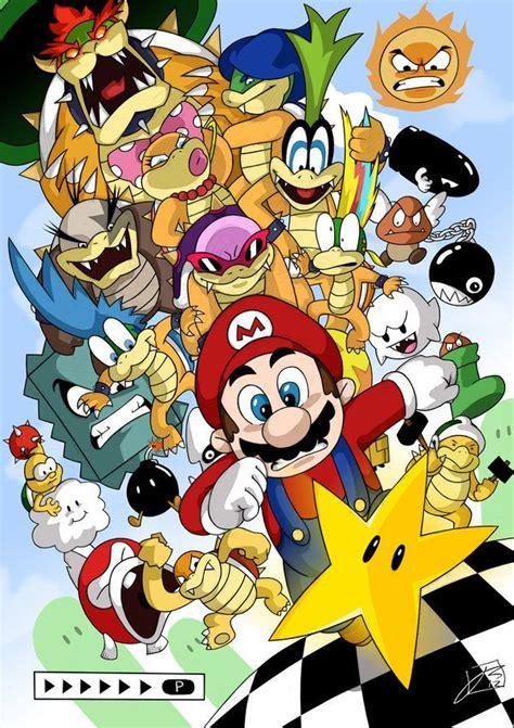 Kaos Mario Bross Mario Artworks 04 mario bros 3 artwork nintendo nes bowser mario