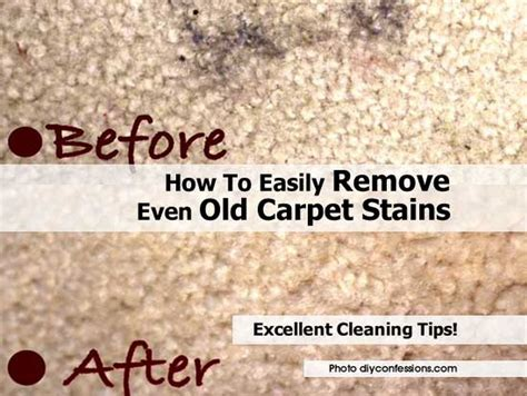 how to easily remove even old carpet stains