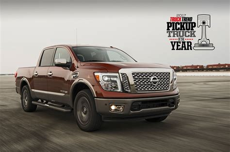 2017 nissan titan nissan titan wins 2017 pickup truck of the year ptoty17