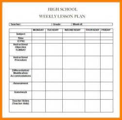 7 weekly lesson plan template word cio resumed