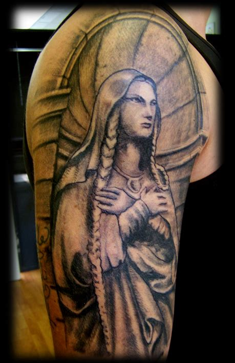 virgin mary half sleeve tattoo designs half sleeve by wildthingstattoo on deviantart