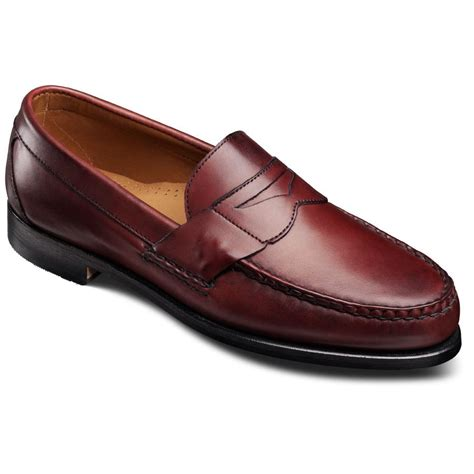 oxblood loafers allen edmonds mens cavanaugh loafers oxblood calf