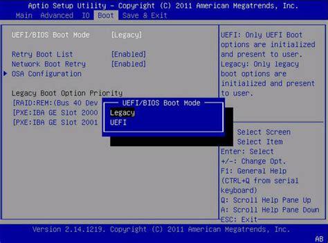 set windows   pc  boot  legacy bios mode