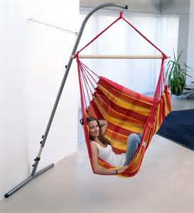Indoor hanging chair with stand hammock hanging chair with stand