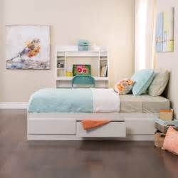 white twin mate s platform storage bed with 3 drawers