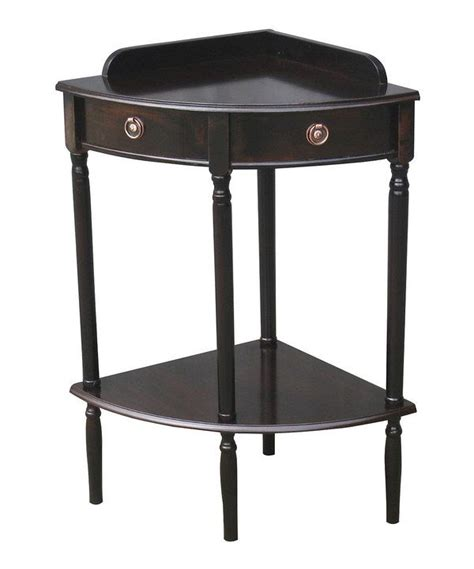 espresso accent table espresso corner accent table