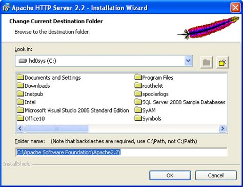 configure xp httpd conf step by step on how to install test configure and use