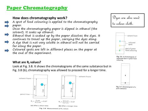 How To Make Chromatography Paper - experimental chemistry sublimation use of separating