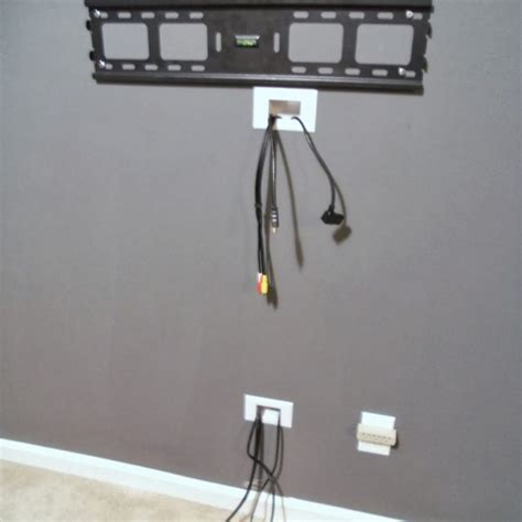 tv wall cable management ways to hide cables from wall mounted tv http