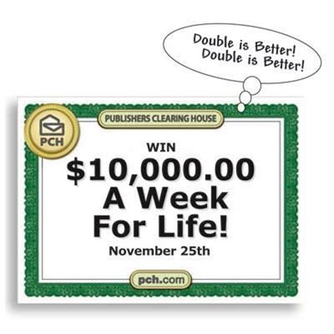 Pch 10000 A Week - yes yes now you can win double the standard weekly prize