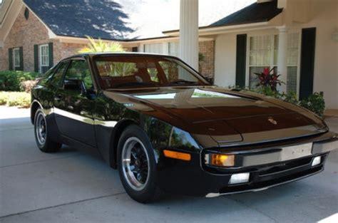 porsche 944 black 17k mile 1984 porsche 944 bring a trailer