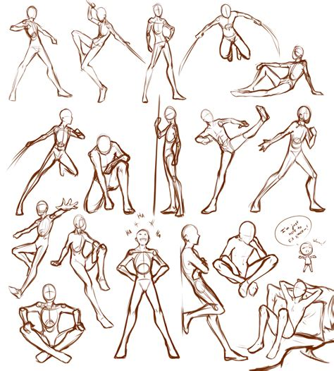 Anime Poses by Poses By Lunalli Chan Deviantart On Deviantart