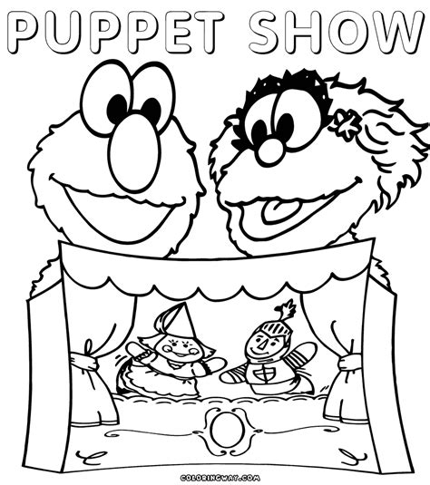 puppet coloring pages