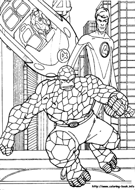 The Thing And Friends Coloring Pages Hellokids Com The Thing Coloring Pages